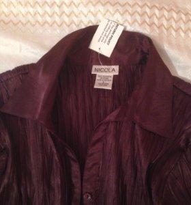 Блузка шоколадного цвета