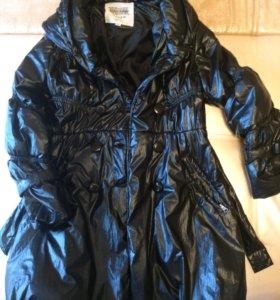 Пуховое женское пальто