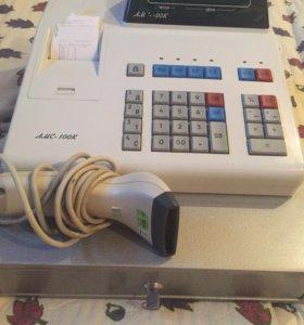 Кассовый аппарат амс-100 со сканером