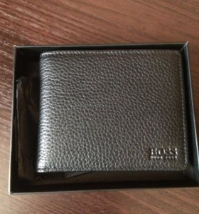Кожаный кошелёк Hugo boss