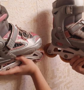 Ролики раздвижные детские для девочки 28-33