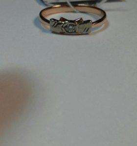 Кольцо 585 с бриллиантом