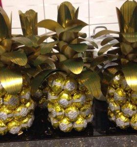 Шоколадный ананас полу сладким сюрпризом внутри)))