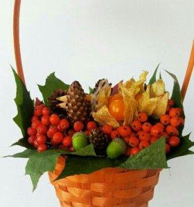 Букеты,корзмны из фруктов,овощей