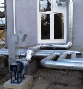 Монтаж вентиляции, изготовление воздуховодов.