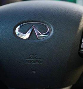 Аэрбег в руль и торпедо для Infiniti Q50