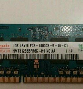 Оперативная память Hynix 1GB 1Rx16 pc3-1060S-9-10