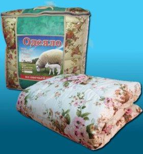 Одеяло обленченное, овечья шерсть