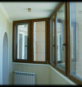 Остекление балконов, окна ПВХ, AL