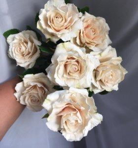 Розы ручной работы из холодного фарфора