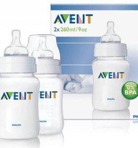 AVENT набор антиколиковых бутылочек 2х260 мл