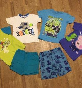 Шорты и футболки 4-6 лет