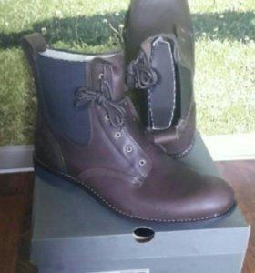Кожаные ботинки Timberland ( демисезон) 45-46р-р