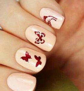 Трафареты для дизайна ногтей Esmalte T 56