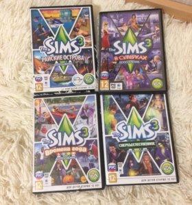 4 дополнения к игре Sims 3 оптом