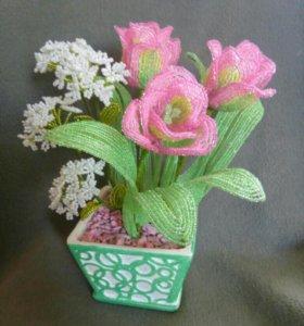 Распродажа цветов из бисера