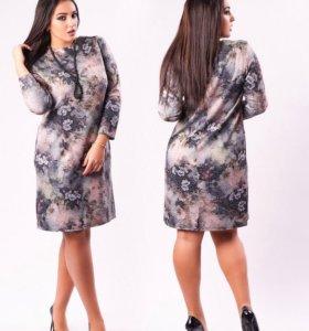 Новое платье с цветочным принтом 56 р-р