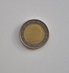 Монета «Бельгия, 2 Евро 2000»
