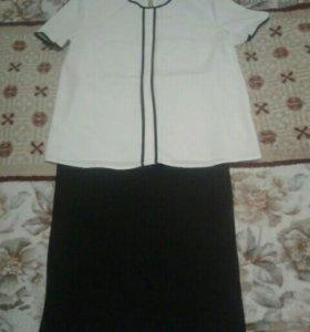Костюм юбка с блузкой