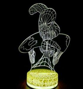 Проекционный 3D светильник (ночник)