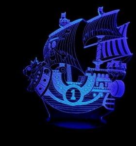 3D светильник кораблик