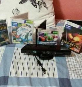 Kinect ( кинект ) для xbox 360 + 4 игры для него