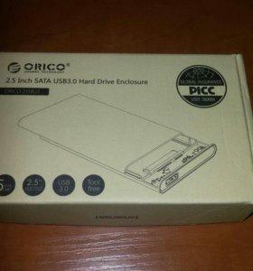Коробка для Ж/Д SATA-->USB поддерживает SSD/HDD