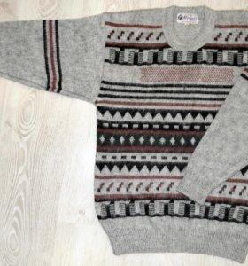 Новый мужской шерстяной свитер 48