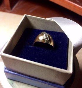 Кольцо 3 бриллианта