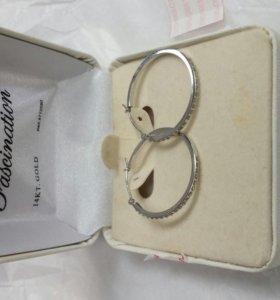 Серьги из золота 585 и бриллиантов