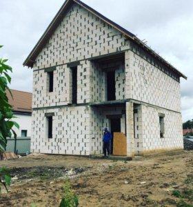 Строительство домов под ключ (материал+работа)