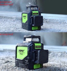 Лазерный уровень НОВЫЙ 3D зелёный мощный луч