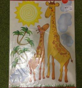 Набор наклеек Жирафы,размер 67*47