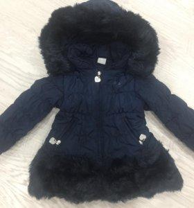 Куртка тёплая для девочки 80