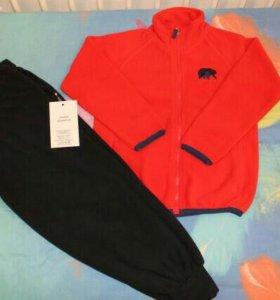 Флисовый костюм: кофта и брюки