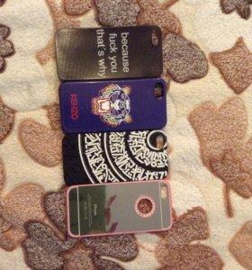 4 чехла на iPhone 5, 5S, 5SE