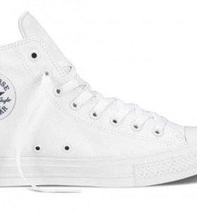 Converse «Chuck Taylor » White высокие (40-44)