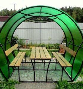Поликарбонат сотовый 2,1 х 6 м 8 мм зелёный