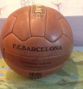 Футбольный мяч 1957 год Барселона. Кожа.