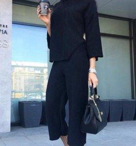 Костюм брюки кюлоты + удлинённая кофточка