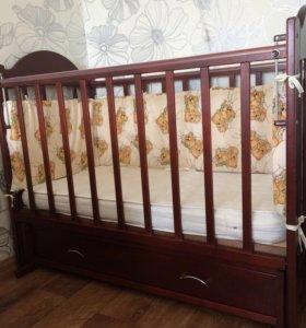 Кровать+ бортики+матрас