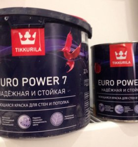 Краска розовая Tikkurila Euro Power 7 (2 банки)