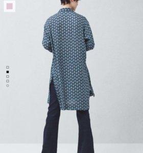 Новые удлинённые блузы mango