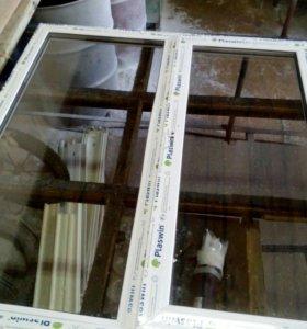 Окно пвх 1300*1400 новое