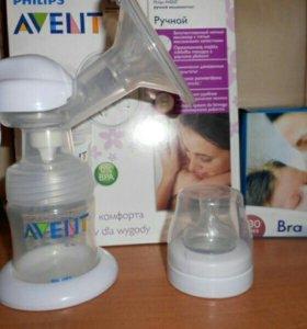 Нагреватель для бутылочек, молокосборник Авент