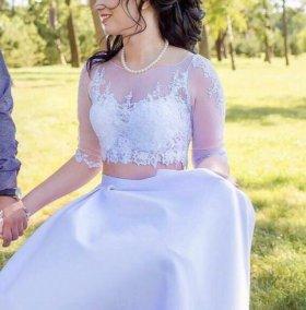 Свадебный кроп-топ и юбка