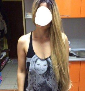 Парик, длинные русые волосы