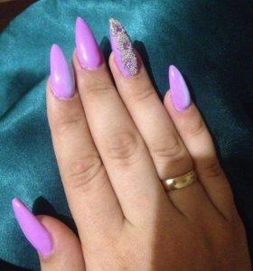Наращивание ногтей , shellac