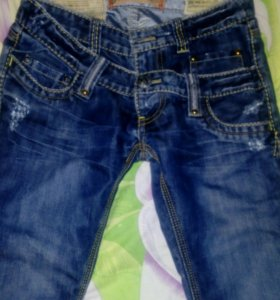 """Дизайнерские """"двойные"""" джинсы"""