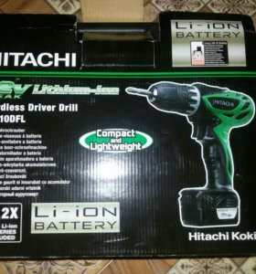 Шуруповёрт hitachi DS10DFL.не комплект